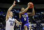 February 6, 2010:  TCU guard, Ronnie Moss (5), during  Mountain West Conference action between TCU and Air Force at Clune Arena, U.S. Air Force Academy, Colorado Springs, Colorado.  TCU defeats Air Force 65-51