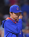 Tsuyoshi Wada (Cubs),<br /> JULY 28, 2014 - MLB : Chicago Cubs starting pitcher Tsuyoshi Wada celebrates after winning the Major League Baseball game against the Colorado Rockies at Wrigley Field in Chicago, USA. The Cubs defeated the Rockies. Tsuyoshi Wada's first Major League win.<br /> (Photo by AFLO)