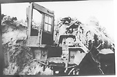 View of wrecked engine backhead and cab.  May be #474 from the Barranca Hill wreck of July 17, 1929.<br /> D&amp;RGW  Barranca Hill ?, NM