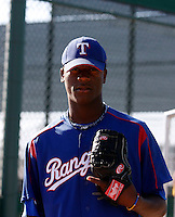 Carlos Melo  - Texas Rangers - 2009 extended spring training.Photo by:  Bill Mitchell/Four Seam Images
