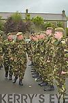 "ATTENTION: Comdt Michael O'Connor inspects a guard of honour from the 32nd Inf Bn RDF, Ballymullen on his retirement from the RDF after 42 yrs service, on Tuesday at Ballymullen barracks in the company of Comdt John Quirke O/C ""C"" Coy."