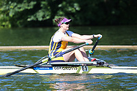 Race: 3  Event: Aspirational 1x<br /> Crew: 61  Club: Grosvenor<br /> <br /> Henley Women's Regatta 2018<br /> Friday<br /> <br /> To purchase this photo, or to see pricing information for Prints and Downloads, click the blue 'Add to Cart' button at the top-right of the page.