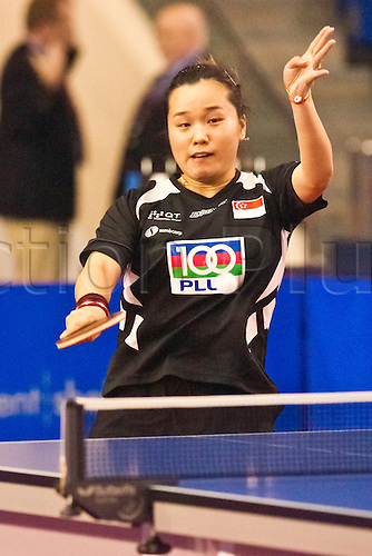 29.01.2011 English Open ITTF Pro Tour Table Tennis from the EIS in Sheffield. Beibei Sun of Singapore