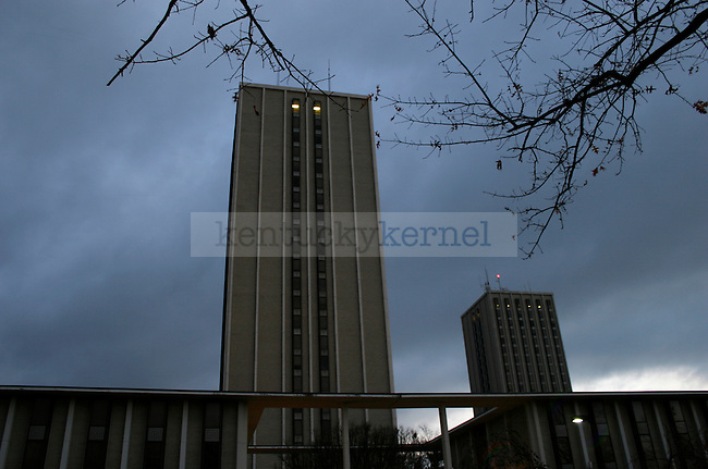 Blanding and Kirwin Tower dorms. Photo by David LaBelle.