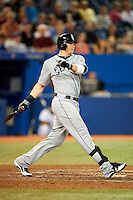 Seattle Mariners first baseman Justin Smoak #17 during an American League game against the Toronto Blue Jays at the Rogers Centre on September 13, 2012 in Toronto, Ontario.  Toronto defeated Seattle 8-3.  (Mike Janes/Four Seam Images)