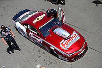 Jun 7, 2015; Englishtown, NJ, USA; NHRA pro stock driver Greg Anderson during the Summernationals at Old Bridge Township Raceway Park. Mandatory Credit: Mark J. Rebilas-