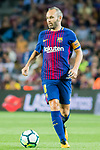 Andres Iniesta Lujan of FC Barcelona in action during the La Liga 2017-18 match between FC Barcelona and SD Eibar at Camp Nou on 19 September 2017 in Barcelona, Spain. Photo by Vicens Gimenez / Power Sport Images
