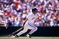 SAN FRANCISCO, CA - Marvin Benard of the San Francisco Giants bats during a game at Candlestick Park in San Francisco, California in 1996. Photo by Brad Mangin