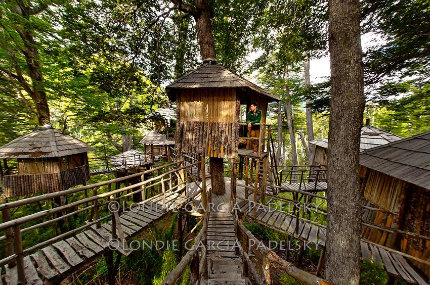 Tree House Camp, Futalefu River, Los Lagos Region, Patagonia, Chile, South America