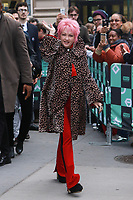 NOV 09 Cyndi Lauper At AOL BUILD