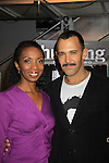 """Castmember Sharon Washington poses with Sebastion at a private screening of Sebastian La Cause's web series """"Hustling"""" Season Two - 'cause everybody got a hustle -  was held on November 19, 2012 at TriBeca's Cinemas, New York City, New York. Days of our Lives """"Silvio"""", One Live To Live and All My Children's Sebastian is the creator of Hustling along with being the writer, director and star (Photo by Sue Coflin/Max Photos)"""