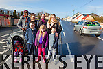 Parents of children attending Duagh national school are worried for their safety if a pedestrian crossing is not installed soon. Pictured were: Gearoid O'Connor, Rowanna Batten, Ceiran O'Connor, Racheal Agbede, Moirah Dairo, Marguerite O'Connor, Shaunagh Dwyer and Emma Batten.