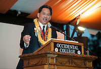 David Louie '73, All Class Dinner on Bell Field.<br /> Occidental College alums enjoy a long weekend of activities and festivities both on campus and off during Alumni Reunion Weekend, June 21, 2013.<br /> (Photo by Marc Campos, Occidental College Photographer)