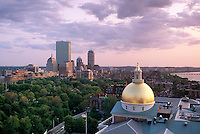 Back Bay skyline view over State House dome, Boston, MA (MA-062)