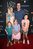 05 August 2017 - Los Angeles, California - Tori Spelling, Dean McDermott, Finn Davey McDermott, Hattie Margaret McDermott, Stella Doreen McDermott. &quot;The Lion King&quot; Sing-Along Screening. <br /> CAP/ADM/FS<br /> &copy;FS/ADM/Capital Pictures
