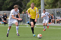 Phoenix&rsquo; Thomas Drillien in action during the National Youth League - Phoenix Youth v Team Wellington Youth at Petone Memorial Park, Lower Hutt, New Zealand on Saturday 29 October 2016.<br /> Photo by Masanori Udagawa. <br /> www.photowellington.photoshelter.com.