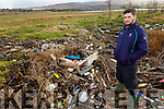 Marine Biologist Jack O'Callaghan from Tralee Bay Plastic Refuge at the dump area in the Basin and is pleading with council to take action