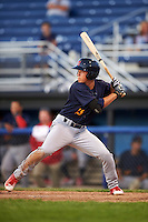 State College Spikes designated hitter Tommy Edman (16) at bat during a game against the Batavia Muckdogs on June 23, 2016 at Dwyer Stadium in Batavia, New York.  State College defeated Batavia 8-4.  (Mike Janes/Four Seam Images)