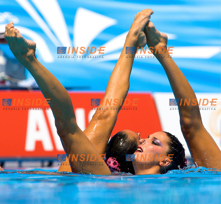 Roma 22nd July 2009 - 13th Fina World Championships From 17th to 2nd August 2009..Free Combination ..Spain ..Gold Medal..photo: Roma2009.com/InsideFoto/SeaSee.com