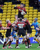 Watford, England. Ernst Joubert of Saracens wins the line out during Aviva Premiership Saracens vs London Wasps at Vicarage Road  Watford England on November 4, 2012
