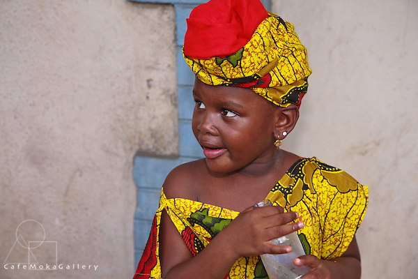 Young girl in African dress Emancipation day