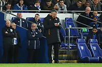 Hull City manager Nigel Adkins takes notes during the Sky Bet Championship match between Cardiff City and Hull City at the Cardiff City Stadium, Cardiff, Wales, UK. Saturday 16 December 2017