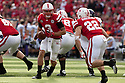 05 November 2011: Taylor Martinez #3 of the Nebraska Cornhuskers looks to hand off to Rex Burkhead #22 in the second quarter against the Northwestern Wildcats at Memorial Stadium in Lincoln, Nebraska.  Northwestern defeated Nebraska 28 to 25.
