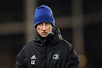 Leinster Rugby Head Coach Leo Cullen looks on during the pre-match warm-up. Heineken Champions Cup match, between Leinster Rugby and Bath Rugby on December 15, 2018 at the Aviva Stadium in Dublin, Republic of Ireland. Photo by: Patrick Khachfe / Onside Images
