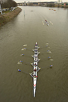 Chiswick, London. ENGLAND,11.03.2006, Hereford RC, Approach Chiswick Bridge, as they make their way to the start of the 2006 Women's Head of the River Race Mortlake to Putney  on Saturday 11th March    © Peter Spurrier/Intersport-images.com.. 2006 Women's Head of the River Race. Rowing Course: River Thames, Championship course, Putney to Mortlake 4.25 Miles