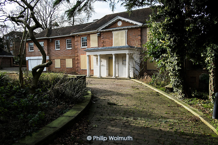 Dryades, a vacant mansion in The Bishops Avenue in north London, is for sale for £30 million after repossession from former Pakistan privatisation minister Waqar Ahmed Khan. Many other mansions in the street, also known as Billionaire's Row, have been left vacant by their mostly overseas owners.