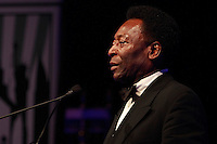 Pele accepts his lifetime achievement award during the 2008 Streets to Fields Gala at Gotham Hall in NYC, NY, on March 19, 2008.