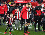 Billy Sharp of Sheffield Utd prepares to start the walk of appreciation during the championship match at the Bramall Lane Stadium, Sheffield. Picture date 28th April 2018. Picture credit should read: Simon Bellis/Sportimage
