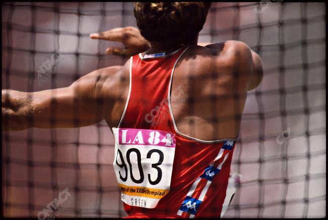 Hammer throw, men, Bill Green (USA), Summer Olympics, Barcelona, Spain, August, 1992