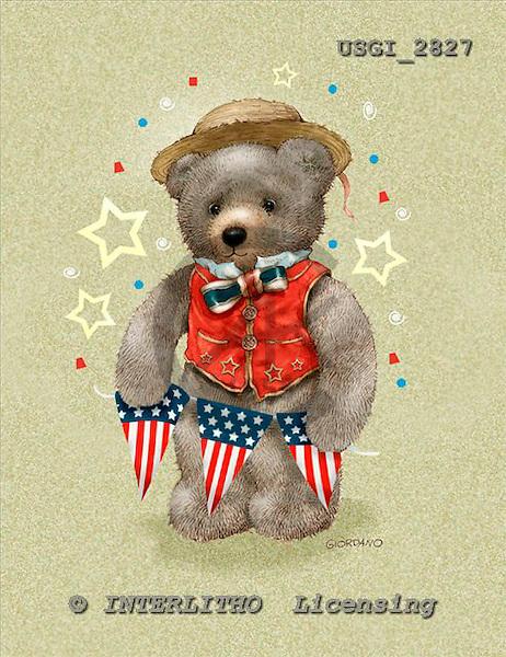 GIORDANO, CUTE ANIMALS, LUSTIGE TIERE, ANIMALITOS DIVERTIDOS, Teddies, paintings+++++,USGI2827,#AC# teddy bears