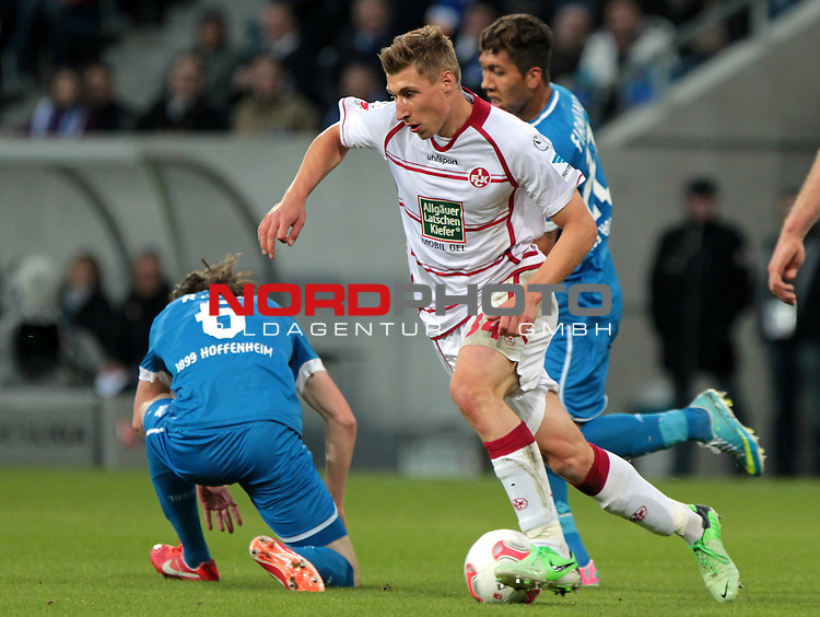 23.05.13, Sinsheim, WIRSOL Rhein-Neckar-Arena,  GER, 1.FBL, Relegation, TSG 1899 Hoffenheim vs 1.FC Kaiserslautern <br />  im Bild  Willi Orban (Kaiserslautern) am Ball <br /> <br />  // during the match between TSG 1899 Hoffenheim and 1.FC Kaiserslautern on 2013/05/23    <br />   Foto &copy; nph / Hessland