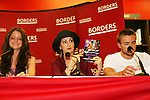 """Brittany Underwood, Robin Strasser and John -Paul Lavoisier will be reading passages Red Carpet Riot by """"David Van Etten"""" who is actually three writters: Emmy-winning OLTL scribe Chris Van Etten and his friends David Levithan and David Ozanich on August 15, 2009 at Borders, Time Warner Center Mall, New York City, New York. (Photo by Sue Coflin/Max Photos)"""