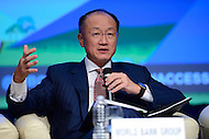 "Washington, DC - October 7, 2016: Jim Yong Kim, President of the World Bank Group, participates in the ""Financial Inclusion not Exclusion: Managing De-Risking"" panel discussion during the World Bank/IMF annual meetings in Washington, D.C., October 7, 2016.  (Photo by Don Baxter/Media Images International)"