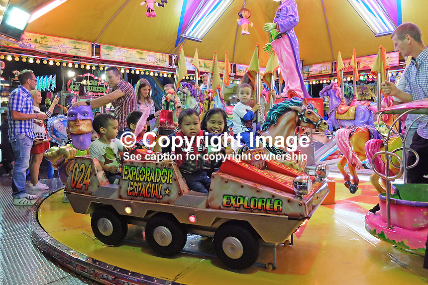 Merry-go-round, fiesta, San Pedro de Alcantara, Marbella, Spain, 15th October 2015, 201510151771<br />