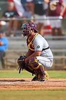 Central Michigan Chippewas catcher Dylan Goodwin (14) during a game against the Boston College Eagles on March 8, 2016 at North Charlotte Regional Park in Port Charlotte, Florida.  Boston College defeated Central Michigan 9-3.  (Mike Janes/Four Seam Images)