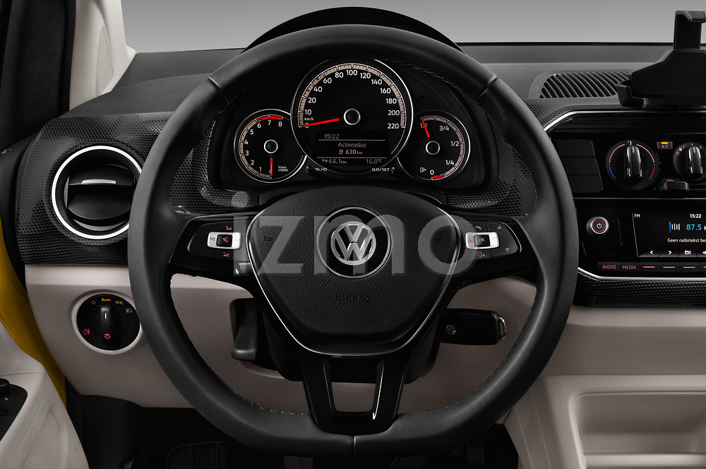 Car pictures of steering wheel view of a 2017 Volkswagen UP Move-up 5 Door Hatchback Steering Wheel