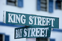 Les Bahamas /Ile d'Eleuthera/Harbour Island/Dunmore Town: plaques signalant le nom des rues