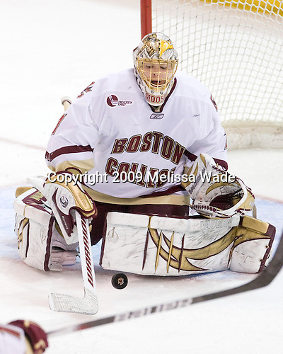 John Muse (BC - 1) - The Boston College Eagles defeated the Clarkson University Golden Knights 6-5 on Friday, November 27, 2009, at Conte Forum in Chestnut Hill, Massachusetts.