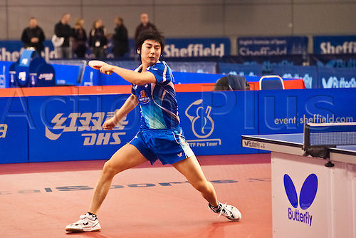 29.01.2011 English Open ITTF Pro Tour Table Tennis from the EIS in Sheffield. Hyun Deok Seo of Korea