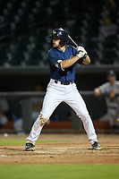 Brian Sharp (7) of the Columbia Fireflies at bat against the Rome Braves at Segra Park on May 13, 2019 in Columbia, South Carolina. The Fireflies defeated the Braves 6-1 in game two of a doubleheader. (Brian Westerholt/Four Seam Images)