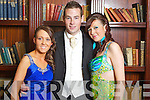 Pictured at the St. Joseph's Secondary School, Abbeyfeale Debs in the Abbeygate Hotel on Thursday, from left: Kadie Harnett, James Brouder, Yvonne Stack.