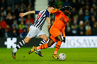 3rd March 2020; The Hawthorns, West Bromwich, West Midlands, England; English FA Cup Football, West Bromwich Albion versus Newcastle United; Allan Saint-Maximin of Newcastle United sprints past Gareth Barry of West Bromwich Albion