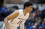 March 4, 2017:   Boise State guard, Chandler Hutchison #15, during the NCAA basketball game between the Boise State Broncos and the Air Force Academy Falcons, Clune Arena, U.S. Air Force Academy, Colorado Springs, Colorado.  Boise State defeats Air Force 98-70.