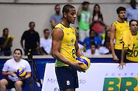 RIO DE JANEIRO, RJ, 13 DE JULHO DE 2013 -LIGA MUNDIAL DE VOLEI-BRASILXEUA- Lucarelli da seleção brasileira  durante a partida Brasil x Estados Unidos na Liga Mundial de Volei , no Maracanazinho, na manhã deste sábado, 13, zona norte do Rio de Janeiro.FOTO:MARCELO FONSECA/BRAZIL PHOTO PRESS