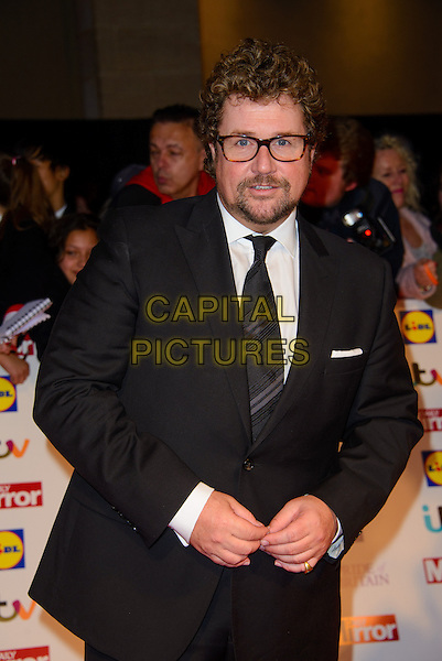 Michael Ball<br /> The Daily Mirror's Pride of Britain Awards arrivals at the Grosvenor House Hotel, London, England.<br /> 7th October 2013<br /> half length black suit glasses beard facial hair <br /> CAP/CJ<br /> &copy;Chris Joseph/Capital Pictures