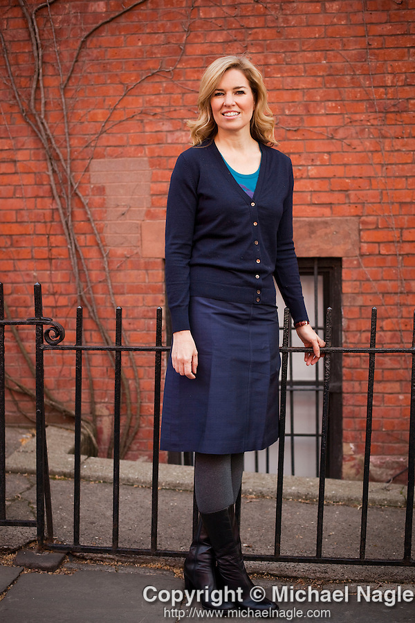 BROOKLYN  --  APRIL 06, 2011:  Writer/journalist  Virginia Heffernan poses for a portrait on April 06, 2011 in Brooklyn Heights.   (Photo by Michael Nagle)